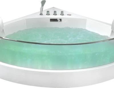 С гидромассажем акриловая ванна Gemy G9080 150 угловая 150x150