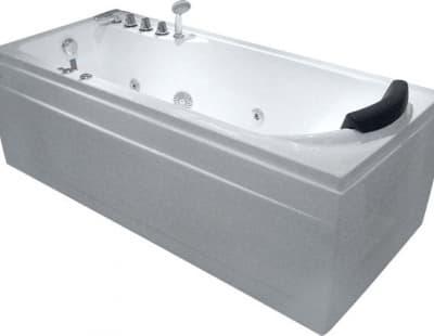 С гидромассажем акриловая ванна Gemy G9006-1.7 B L 172 прямоугольная 172x77