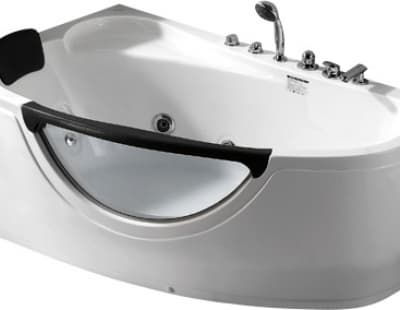 С гидромассажем акриловая ванна Gemy G9046 II B L 171 асимметричная 171x99