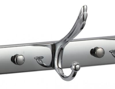 Планка с крючками Savol (3 крючка), хромированный, силуминовая S-06203B