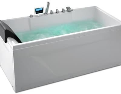 С гидромассажем акриловая ванна Gemy G9075 K R 161 прямоугольная 161x81