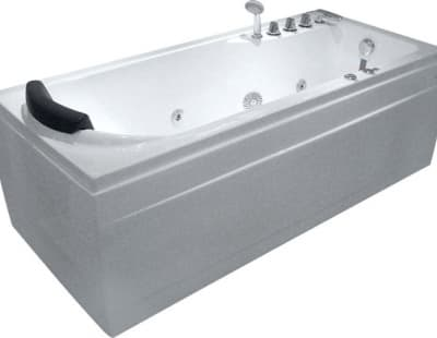С гидромассажем акриловая ванна Gemy G9006-1.7 B R 172 прямоугольная 172x77