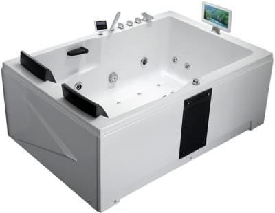 С гидромассажем акриловая ванна Gemy G9061 O R 181 прямоугольная 181x121