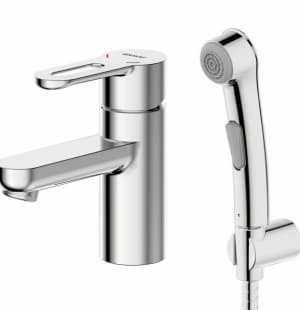 Смеситель для умывальника с гигиеническим душем Bravat Stream-D F137163C-1