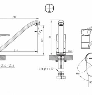 Смеситель для кухни Bravat Alfa F7120178CP-2