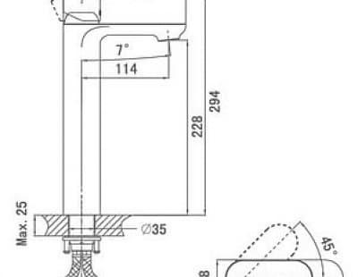 Смеситель для раковины высокий D&K Bayern Purer (DA1252001)