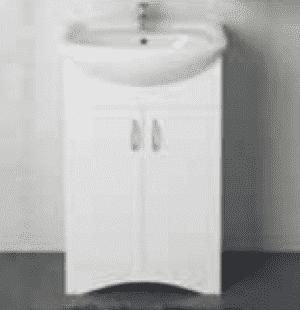 Тумба под умывальник 1MarKa Уют 50Н 2д. (белая)