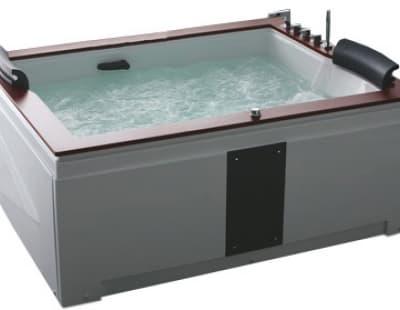 С гидромассажем акриловая ванна Gemy G9052 II B R 186 прямоугольная 186x151
