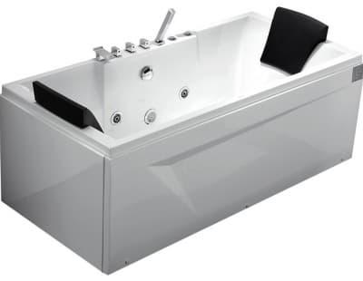 С гидромассажем акриловая ванна Gemy G9065 B R 175 прямоугольная 175x85