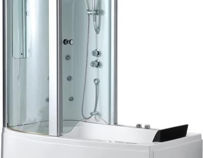 С гидромассажем акриловая ванна Gemy G8040 B L 170 асимметричная 170x85