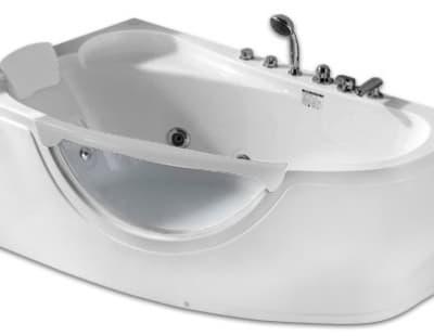 С гидромассажем акриловая ванна Gemy G9046 B L 161 асимметричная 161x96
