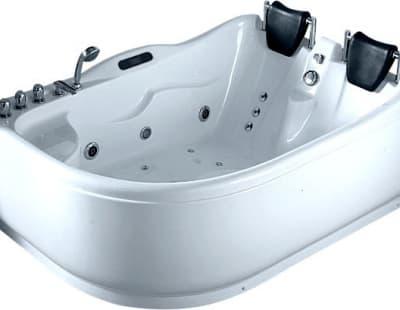 С гидромассажем акриловая ванна Gemy G9083 K R 180 асимметричная 180x121