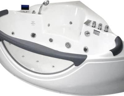 С гидромассажем акриловая ванна Gemy G9025 II K 155 угловая 155x155