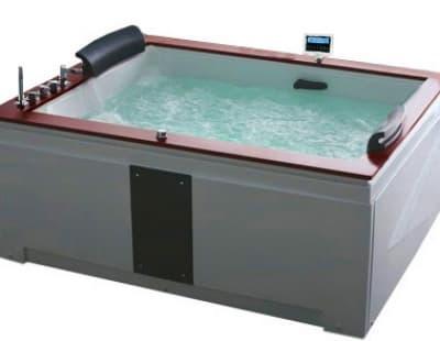С гидромассажем акриловая ванна Gemy G9052 II K L 186 прямоугольная 186x151
